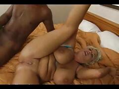 Big boobs milf gets picked up by black dude